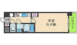 プレサンス梅田北オール 3階1Kの間取り