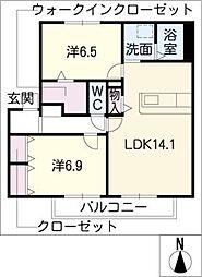 ランドハイム五林[2階]の間取り
