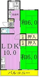 小松コーポ2号棟[405号室]の間取り