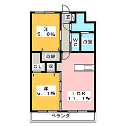 Y&Mガーネット[4階]の間取り