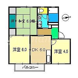 アメニティー21 F棟[2階]の間取り