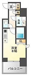 レジディア江坂II[12階]の間取り