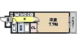 M'プラザ蒲生四駅前 5階1Kの間取り