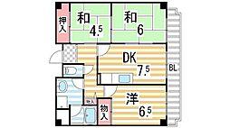 メゾンエクセレント[3階]の間取り