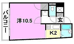 レーベンイケダ美沢[405 号室号室]の間取り