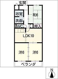 ダイヤモンド岩倉[3階]の間取り