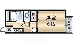 JR東海道・山陽本線 JR総持寺駅 徒歩35分の賃貸アパート 2階1Kの間取り