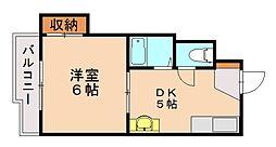 シャルム城南[2階]の間取り