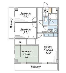マロハウス[2階]の間取り