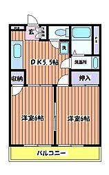 ビューハイツ司[4階]の間取り