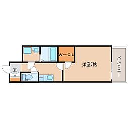 阪神本線 尼崎駅 徒歩6分の賃貸マンション 12階1Kの間取り