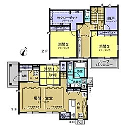 [一戸建] 神奈川県横浜市磯子区洋光台4丁目 の賃貸【/】の間取り