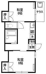 ハウス大谷口[1階]の間取り