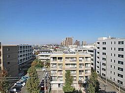 北側バルコニーからの眺望(北方向)。
