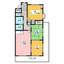 マンションメリー[2階]の間取り