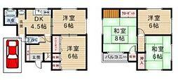 [一戸建] 大阪府八尾市上之島町北2丁目 の賃貸【/】の間取り