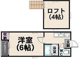 ラサイン井尻[1階]の間取り