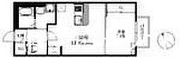 福岡県筑紫野市石崎2丁目の賃貸アパートの間取り