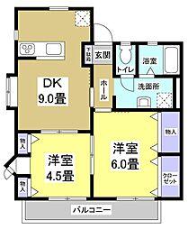 フォレストヒル[2階]の間取り