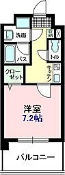 千葉県船橋市山野町の賃貸マンションの間取り