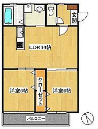 サクシード春日原[2階]の間取り
