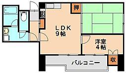 福岡県春日市須玖北3丁目の賃貸マンションの間取り