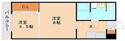K&Y寺塚[1階]の間取り