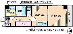 センターポイント吉志部[1階]の間取り