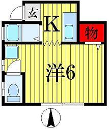 立石パレス[1階]の間取り