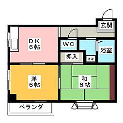 エスポワール木村[1階]の間取り