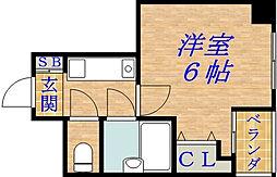 千林ロイヤルハイツ[6階]の間取り