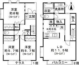 [テラスハウス] 東京都目黒区鷹番1丁目 の賃貸【/】の間取り