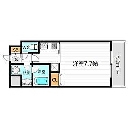 大阪府大阪市都島区都島本通3丁目の賃貸マンションの間取り