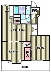 フォレストール1番館・2番館[1階]の間取り