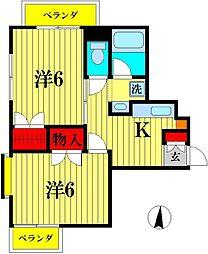 フォーシーズン新松戸[2階]の間取り