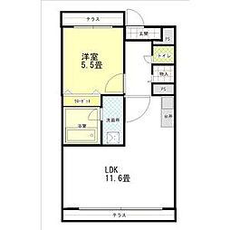 ヒヨシマンション[3階]の間取り