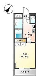 山口県下関市伊倉新町2丁目の賃貸アパートの間取り