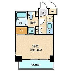 東京メトロ銀座線 虎ノ門駅 徒歩4分の賃貸マンション 4階1Kの間取り