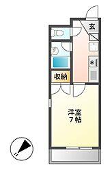 フォレスト318[3階]の間取り