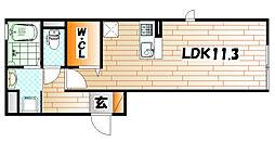 トレス城野館[1階]の間取り