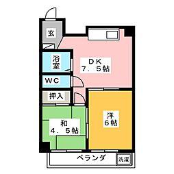 メイグリーンハイツ皿山[3階]の間取り