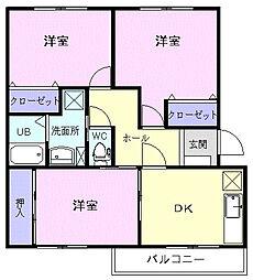 ペアレジデンス I[2階]の間取り