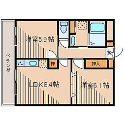 K・S柿生[4階]の間取り