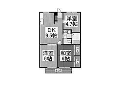 サンビューヒルズ3[2階]の間取り