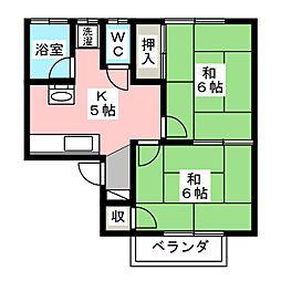 セントラルハウス[2階]の間取り