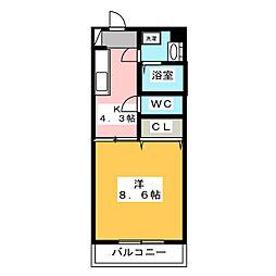 フォルテN[3階]の間取り