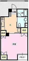 サンディハイツ鶴賀[2階]の間取り