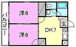 宮崎ハイツ[203 号室号室]の間取り