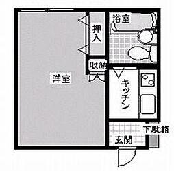 プチシャルマン浜脇[203号室]の間取り