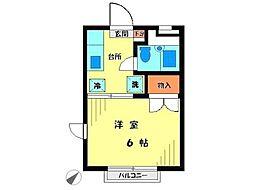 スターハイツ稲城[1階]の間取り